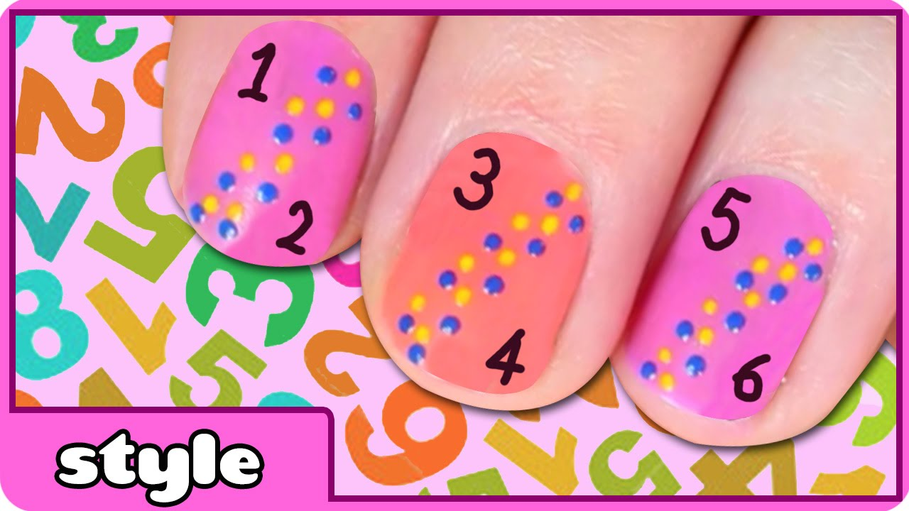 Number Nail Art Choice Image - nail art design simple step by step