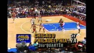 1990 Regular Season Chicago@Philadelphia HIGHLIGHTS