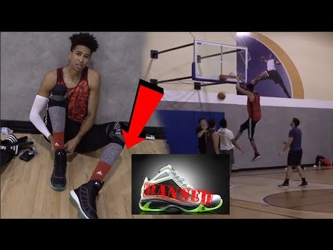 2HYPE 5v5 BASKETBALL w/ BANNED NBA SHOES! Did I Jump Higher?