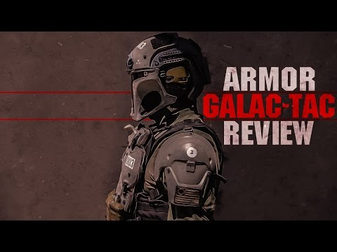 """GALAC-TAC Armor Review + CUSTOM """"Star Wars Themed"""" LVOA Airsoft Rifle! 