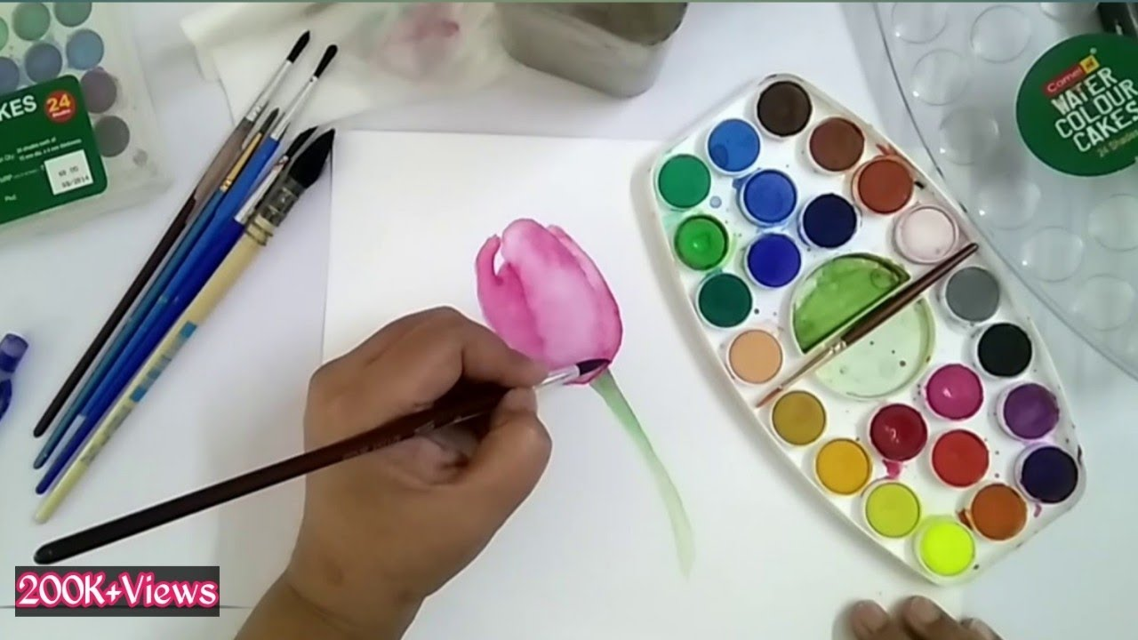 Watercolor Tutorial In Hindi Watercolour Supplies For Beginners