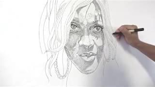 Kosta Kulundzic Live Drawing Of Rihanna