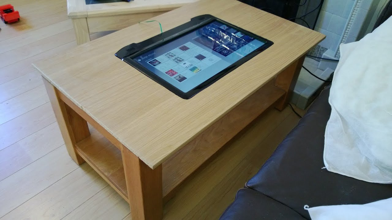 smart home touchscreen table techtop desk youtube