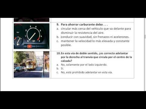 Spanish driving test in Urdu.carnet de conducir permiso B  p