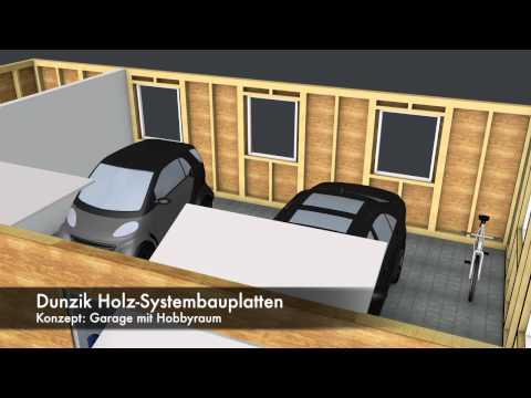 Dunzik Holz-Systembauplatte 3D Garage
