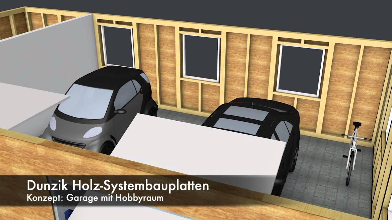 Dunzik Holz Systembauplatte 3d Garage Youtube