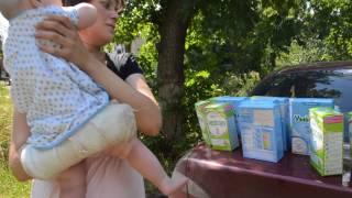 Помощь многодетной маме детским питанием от жителей Донецка и Днепропетровска