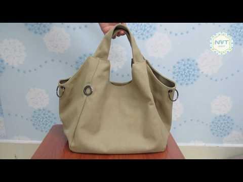 Túi xách nhập khẩu Quảng Châu cá tính phong cách vintage NVT 3025 vải canvas cao cấp