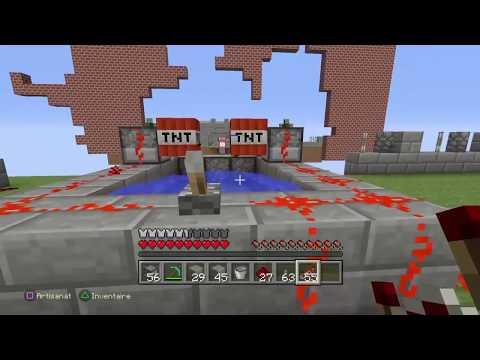 TNT WARS SUR MINECRAFT | ON BUILD UN CANON A TNT ENORME | MINI JEUX PS4 FR