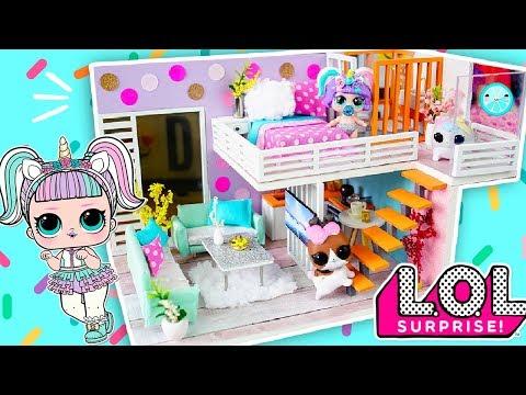 DIY Miniature Dollhouse Room | Unicorn 🦄 | LOL SURPRISE Dolls