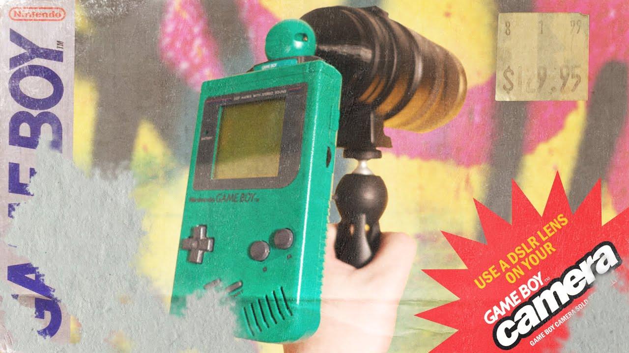 Game Boy Camera Mod + DSLR Lens (print the results onto canvas ...
