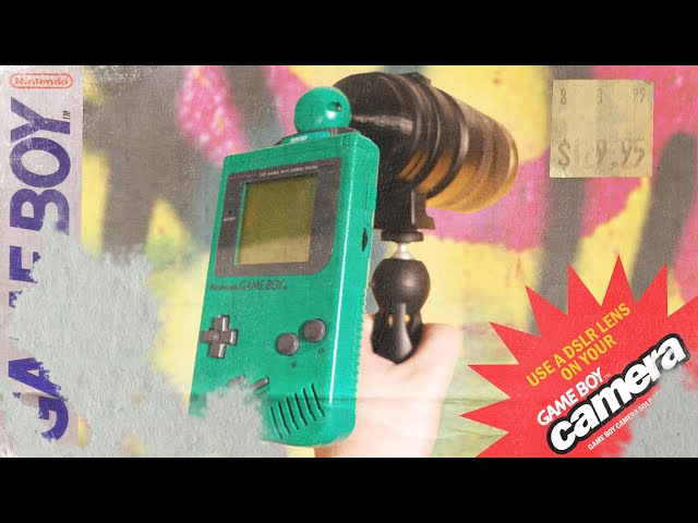 A Dslr Lens On A Game Boy Continues To Rule