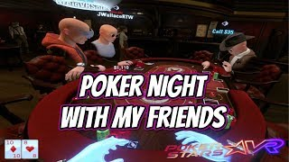 PokerStars VR - Poker night with the boys (BIG WIN)