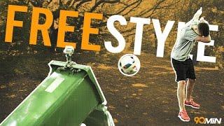 Insane freestyle bin shots feat kieran brown and footballmagic | 90min originals