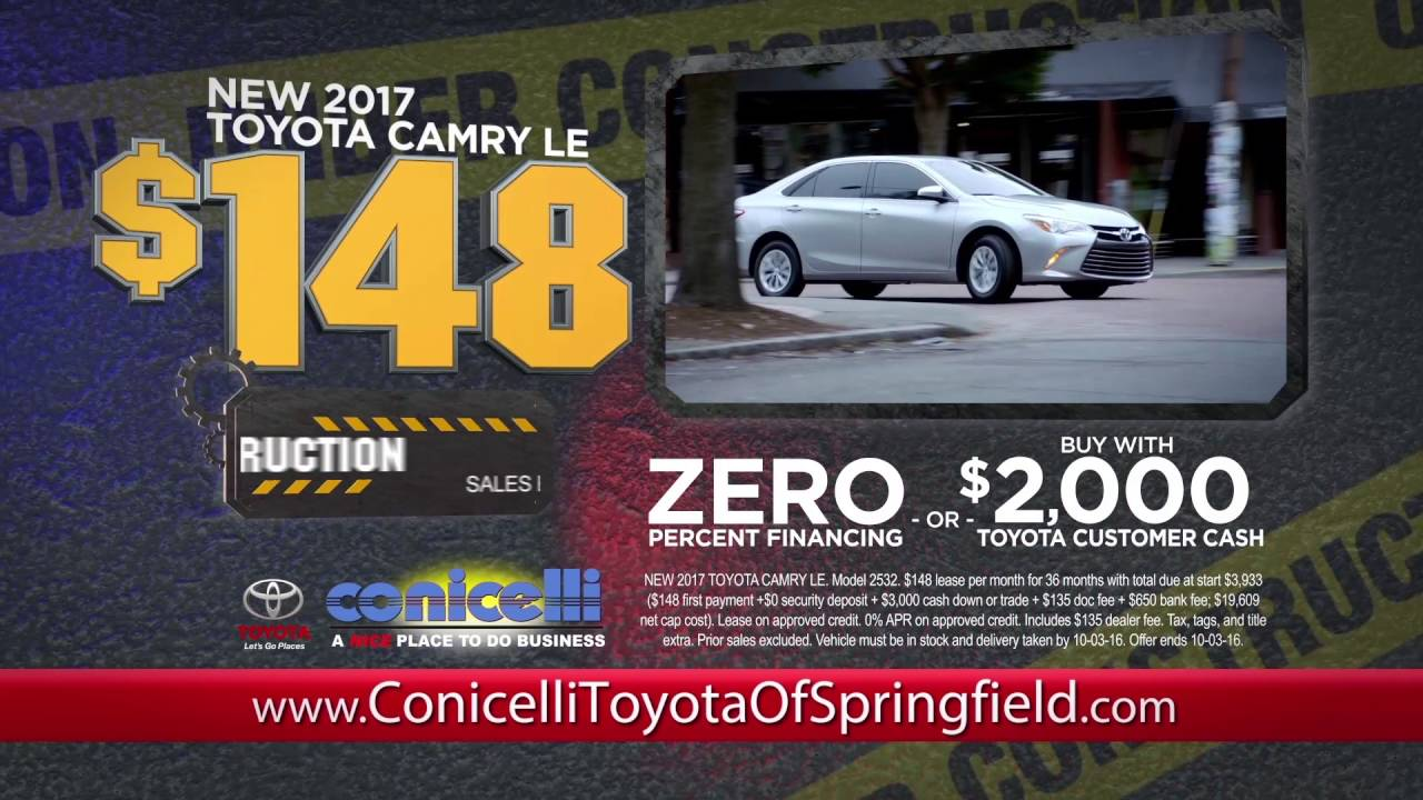 $148/month Camry U0026 $168/month RAV4 At Conicelli Toyota Of Springfield