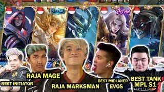 TEAM ALL STAR INDONESIA! KAPTEN DONKEY,KAPTEN LEMON, BEST MARKSMAN TUTURU, MIDLANER EVOS EMPEROR!