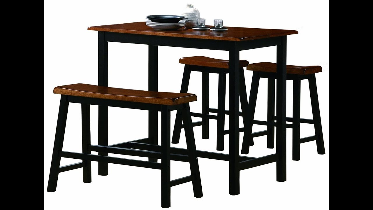 bar height kitchen table sets shelf display ideas for dining set youtube