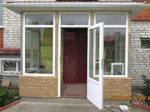 Закрытое крыльцо к дому своими руками проекты фото
