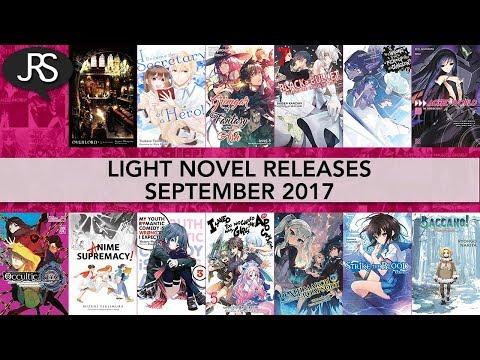 Light Novel Releases for September 2017