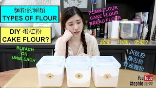 【different TYPES OF FLOUR】【麵粉的種類】stephie's kitchen