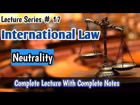 Neutrality Under International