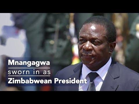 Live: Mnangagwa sworn in as Zimbabwean President 姆南加古瓦就任津巴布韦总统