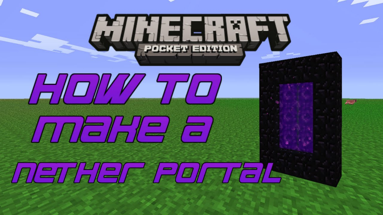 how to make a nether portal in minecraft pe creative