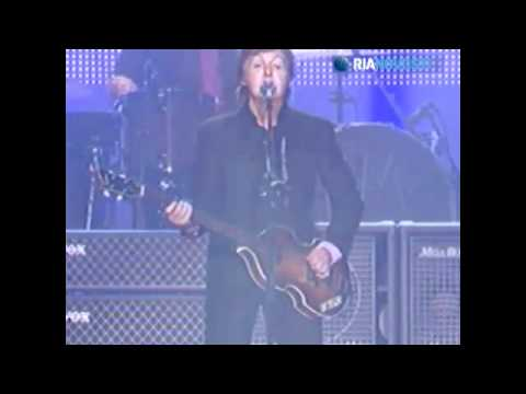 Paul McCartney in Moscow (RIA News video - in English)