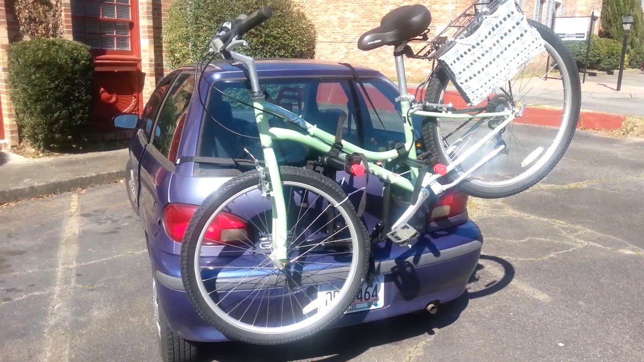 2 Bike Trunk Mount Rack Review Youtube