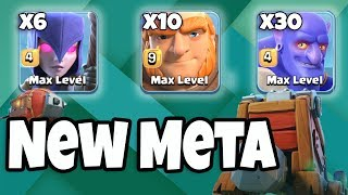 6 Max Witch 30 Max Bowler 10 Max Giant | New Meta Ground Army 3 Star Th12 | New Th12 War Style 2018