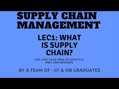 Lecture 1: What is Supply Chain? | For MBA students/Careers