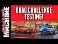 DRAG CHALLENGE CARS TESTING AT CALDER PARK