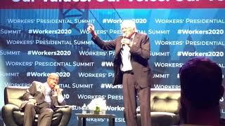 Bernie Sanders 2020 Workers' Presidential Summit Philadelphia AFL-CIO, From YouTubeVideos