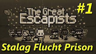 "The Escapists | S2E01 ""Stalag Flucht Prison Camp!"" | Day 1 Walkthrough"