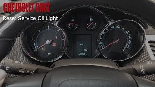 Chevrolet Cruze - Reset Service Oil Light