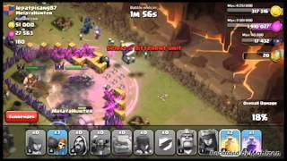 Clash Of Clans- Witch, Golem, Pekka, Wizard combo clan war attack