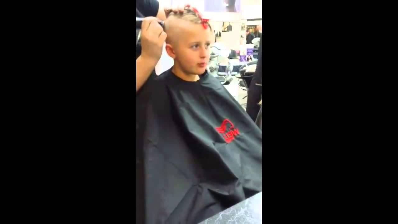 7 year hair shaved