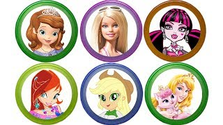 Киндер Сюрприз Барби Пони Монстр Хай Винкс Barbie Disney Princess Surprise Eggs Toys For Girls