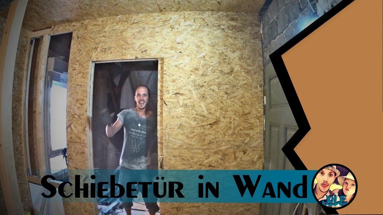Fabulous Schiebetür in einer Wand - YouTube TZ08