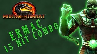 Mortal Kombat 9 - Ermac - 15 hit 55% X-Ray Combo