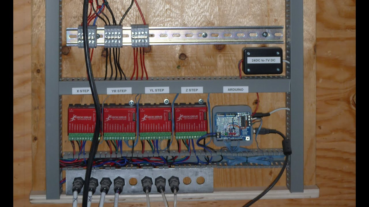 Electrical Control Panel Wiring Diagram Mercury Tach Cnc Project 4b The Youtube