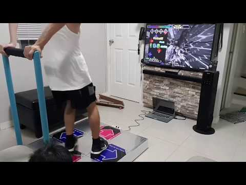 Home made Dance Dance Revolution Pad with bar (DIY)