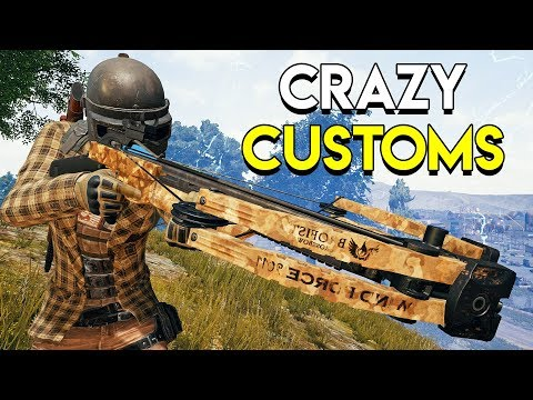 CRAZY CUSTOMS - PUBG Custom Games (Crossbows, Shotguns, Winchesters)