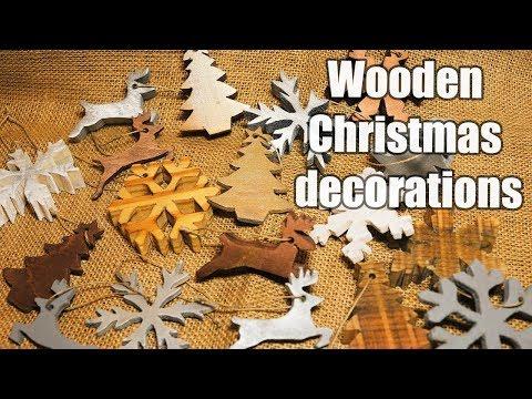 Wooden Christmas decorations 2018 - DIY - free stencils