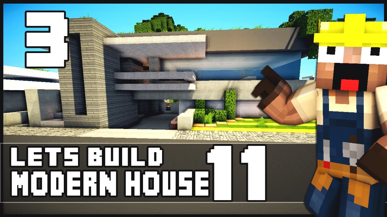 Minecraft lets build modern house 11 part 3 download for Modern house 8 part 3