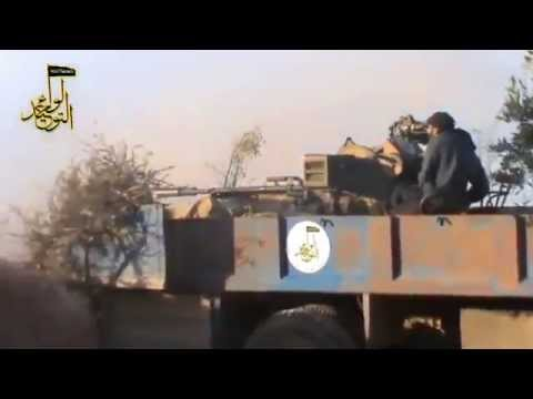 FSA Tanks and Heavy Weapons Destroyed Syrian Army Barrier in Idlib