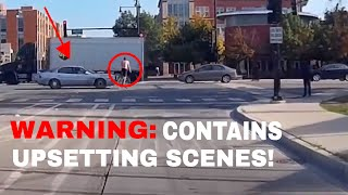CYCLIST SENT FLYING AFTER BEING HIT BY A CAR!