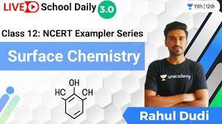 Class 12   NCERT Exampler Series   Surface Chemistry   Unacademy Class 11\u002612   Rahul Dudi