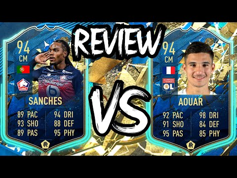 TOTS RENATO SANCHES 94 VS TOTS HOUSSEM AOUAR 94 PLAYER REVIEW | FIFA 20 Ultimate Team