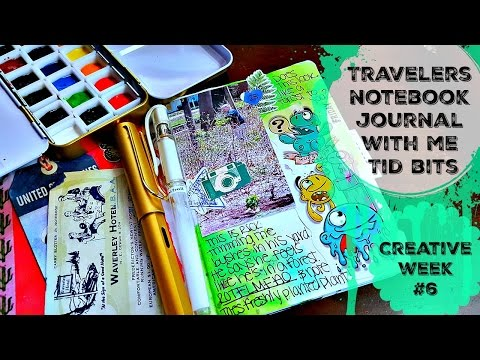 Travelers Notebook: Journal with Me Bits: Creative Week #6